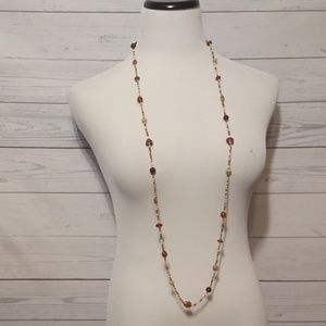 Jewelry - Brown glass beaded Necklace    0096